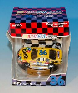 2002 Nascar Ken Schrader #36 M&M 2002 Trevco Dated Collectible Ornaments