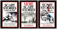 ORIGINAL 3 Books Scary Stories to Tell in the Dark Set Alvin Schwartz & Gammell
