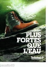 PUBLICITE ADVERTISING 116  2011  Timberland  bottes Earthkeepers homme