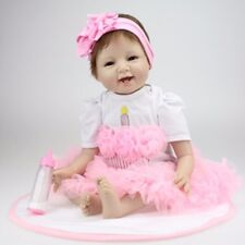 22 inches Reborn Baby Handmade Pink Lace Dress Suitable Not included Doll