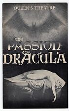 THE PASSION OF DRACULA - THEATRE PROGRAMME