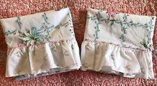 Pair Martex Pillowcases Atelier Pink Blue Floral Ruffled Standard New