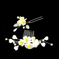Retro Flower Hair Stick Comb Accessory for Kimono Hanfu Party Cosplay