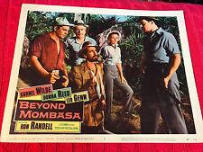 Beyond Mombasa 1957 Columbia lobby card Cornel Wilde Christopher Lee