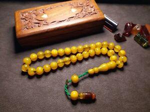 Yellow King - %100 Original - Amber Bakelite Prayer Beads, Tesbih, Rosary, Islam