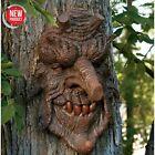 Tree Face Hanging Witch Oak Spirit Wood Sculpture Halloween Decor Outdoor Garden