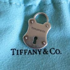 Rare Discontinued Tiffany & Co.925 Silver Padlock Charm with TIFFANY POUCH & BOX