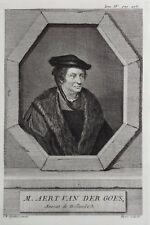 Gravure Antique print Portrait M. AERT VAN DER GOES Nederlands raadpensionaris