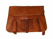 Genuine Leather Handmade Brown Messenger Shoulder Bag Vintage Laptop Briefcase