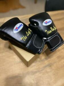 Winning Boxing Gloves 8oz Black embroidered From Japan Free Shipping