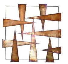 Moderno astratto in metallo Wall Art Scultura struttura in metallo in acciaio inox pieghe a caldo