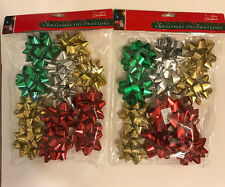 2X12 Designer Bows Ribbons, Gift decorate, Christmas- Peel and Stick,Multi Color