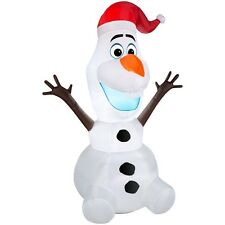 3.5 ft. Olaf with Santa Hat Christmas Inflatable