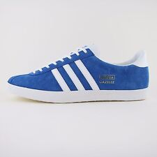 NUOVA linea uomo Adidas Originals Gazelle OG PELLE SCAMOSCIATA BLU Air Force Tg UK 13 G16183