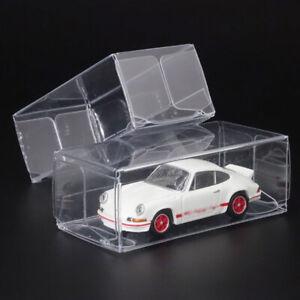 20 X Plastique Transparent Rangement Boîte 1:64 Modèle Voitures Jouet Chaude De