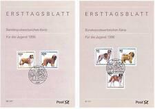 RFA 1996: Cinq Races de chiens! Enveloppes de premier jour de