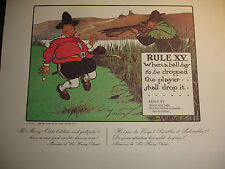 Impression Perrier Règles du Golf Charles Crambie Règle XV