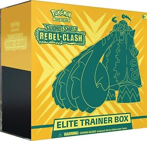 Pokemon TCG Sword & Shield - REBEL CLASH ELITE TRAINER BOX ETB - New & Sealed