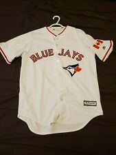 Official Blue Jays Jersey Jose Bautista and Aaron Sanchez Majestic Canada Day Va