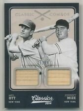 2014 Panini Classics Combos MEL OTT JOHNNY MIZE DUAL BAT /99 NEW YORK GIANTS HOF