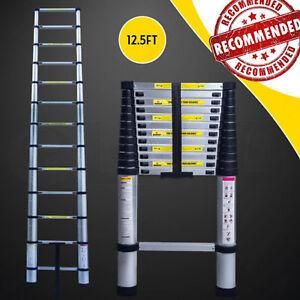 Retractable Collapse Ladder Telescopic Extension Lightweight Climb Sturdy Garage