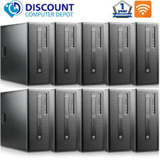 Lot of 10 Desktop Computer Tower HP ProDesk Core i5 8GB 256GB SSD Windows 10 Pro