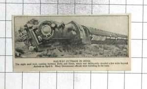 1931 Mail Train Derailed Deliberately At Ambala