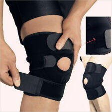 NEOPRENE PATELLA BLACK ELASTIC KNEE BRACE FASTENER SUPPORT GUARD GYM SPORT   KP