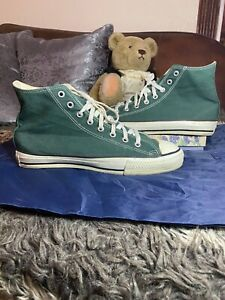 Vintage Made In Usa Converse All Star Hi Green Mens 10.5