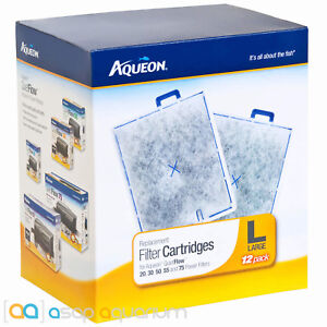 Aqueon QuietFlow Large 12pk Replacement Filter Cartridges For 20, 30, 50, 55, 75