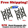RPM 80702 Front and Rear Suspension Arms (4) Black Traxxas Slash / Stampede 4x4