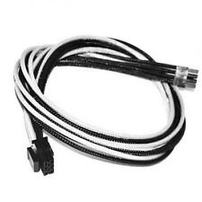 6pin pcie White Black Sleeved PSU Cable EVGA Silverstone Coolermaster Seasonic
