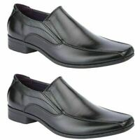 MENS FAUX LEATHER SHOES NEW ITALIAN SMART FORMAL WEDDING OFFICE PARTY SHOES SIZE