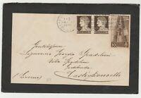 STORIA POSTALE - 1938 REGNO 3 VALORI SU LETTERA FIRENZE 16/4 E/2324