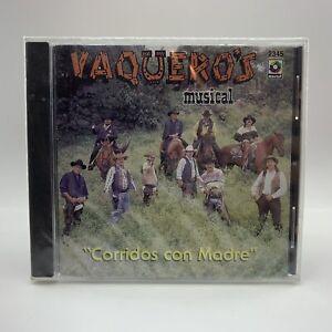 Vaqueros Musical CD Corridos con Madre Rare New