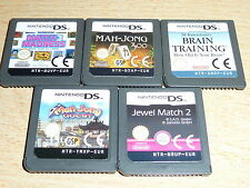 JOB LOT 5 NINTENDO DS DSI 3DS GAME CARTS Match Madness Mahjong Quest Jewel Match