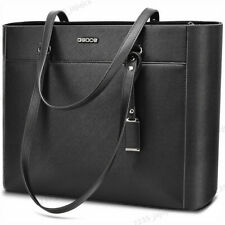 "16.5"" Large Women Office Bag PU Briefcase Laptop Tote Case Casual Bag Handbag"