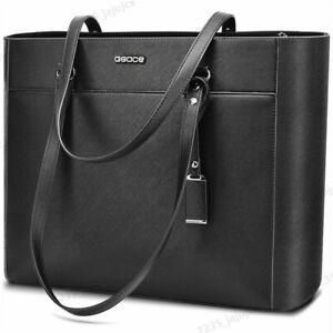 "16.5"" Large Women Office Bag PU Briefcase Laptop Tote Case Casual Bag Handbag"