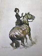 New listing VTG Frank Frazetta Art MADAME DERRINGER 1976 Cowgirl Horse Gun Side Saddle Sepia