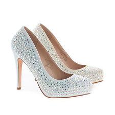 Summer49 Rhinestone & Glitter Extra Comfort Stiletto Heel Dress Pumps