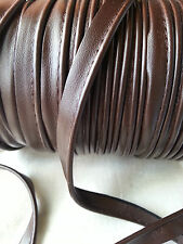 2M Brown Faux Leather Insertion Flanged Rope Piping Upholstery Sewing 8mm Wide