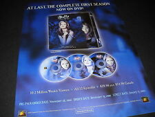 BUFFY THE VAMPIRE SLAYER Sarah Michelle Gellar 2001 PROMO DISPLAY AD mint cond