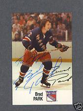 Brad Park signed New York Rangers 1988 Esso card