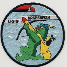 USS Archerfish SS 311 - 4 inch EonT  - Fish with bow BC Patch Cat no. c6999