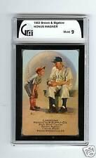 1953 Honus Wagner, Brown & Bigelow, Playing Card, GAI Mint 9, Very Clean