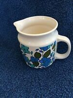 VINTAGE HOLT HOWARD CREAM PITCHER WITH BLUE FLOWERS & GREEN LEAVES #7054--1965