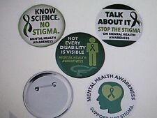 12 MENTAL HEALTH AWARENESS PINS button pins SUPPORT NOT STIGMA Stop the Stigma