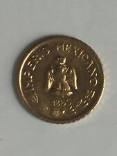 AUTHENTIC Tiny 24K Gold 1865 Imperio Mexicano Emperador Maximiliano Coin