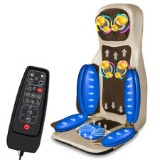 Electric Heat Automatic Body Massage Chair Vibrate Massage Pad Home Office Car