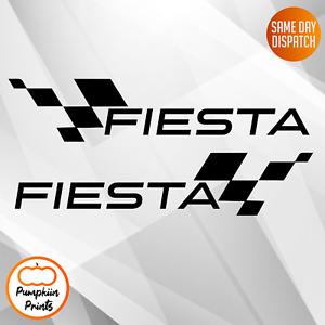 2x Large FIESTA vinyl stickers decals  Side Sticker Decal -11 Inch